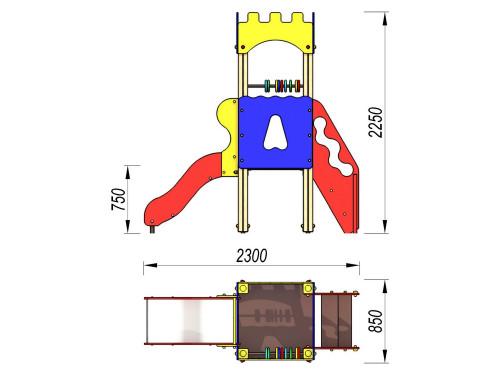 2001 Комплекс детский Крепость, фото №2