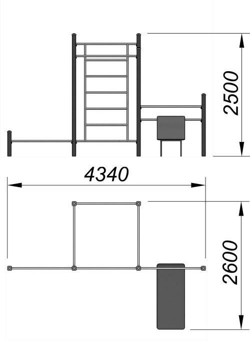 3717 Спортивный комплекс для воркаут Тип 2, фото №2