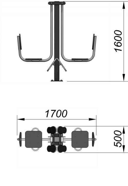 3603 УТ-003 Жим ногами горизонтальный, фото №2
