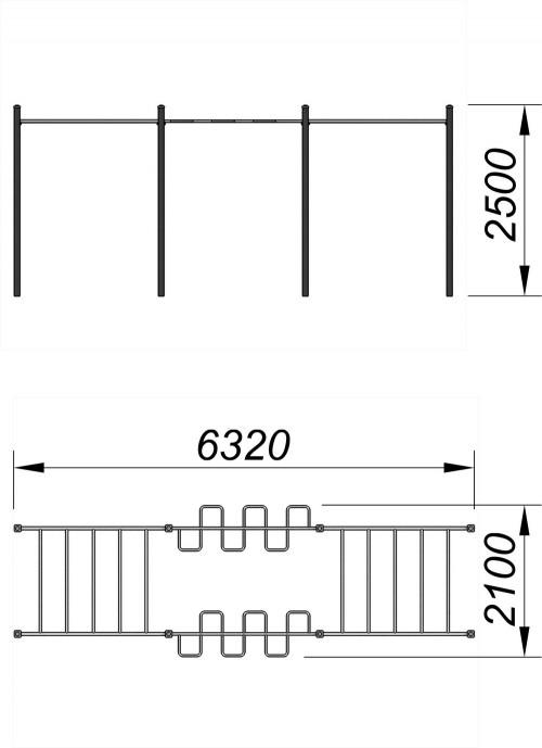 3723 Спортивный комплекс для воркаут Тип 8, фото №2
