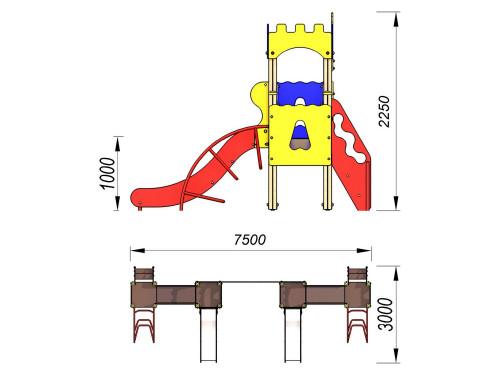2100 Комплекс детский Крепость, фото №2