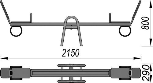 1200-1 Качалка балансир, фото №2