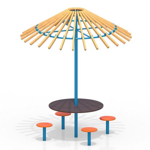 4000 Детский комплекс (стол, зонтик, 4 стульчика), фото №1