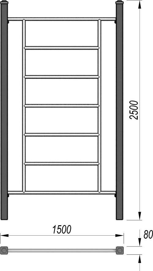 3713 Шведская стенка для воркаут, фото №2