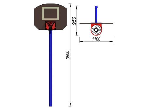 3510 Баскетбольный щит, фото №2