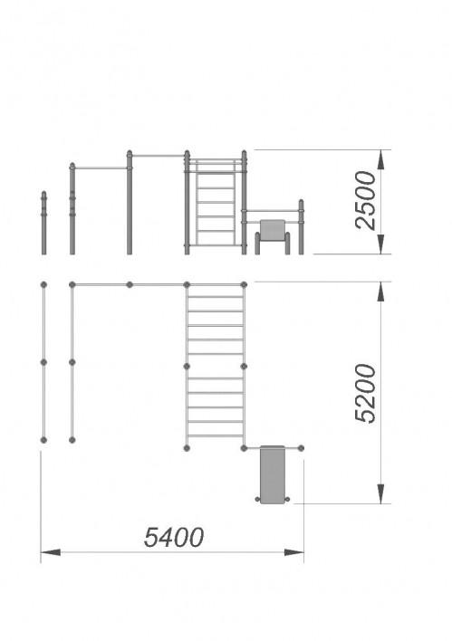 3789 Спортивный комплекс для воркаут СХ-38, фото №2