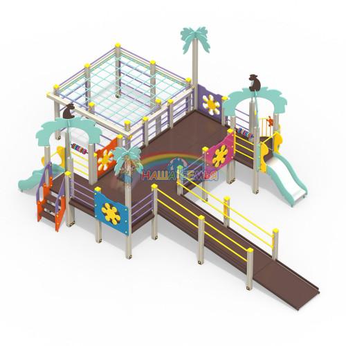 2210-2 Детский игровой комплекс для детей с ограниченными возможностями Джунгли, фото №1
