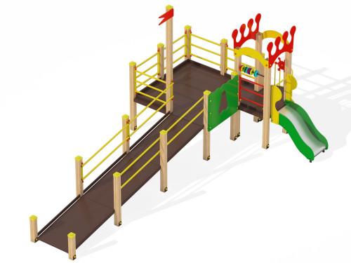 2200 Детский игровой комплекс для детей с ограниченными возможностями Корона, фото №1
