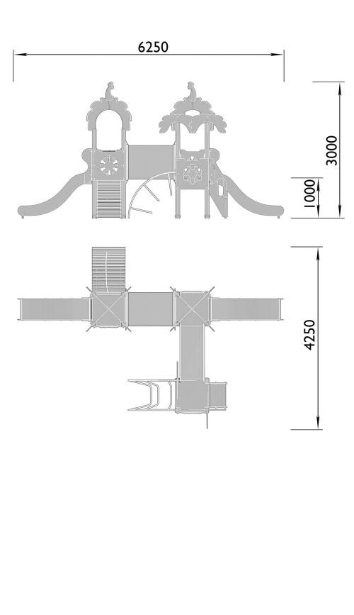 2060-10 Комплекс детский Джунгли, фото №2