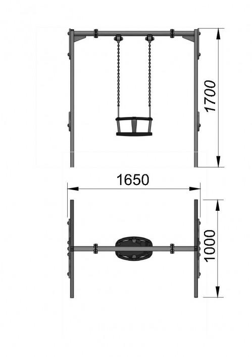 1110-2 Качели одноместные малые, фото №2