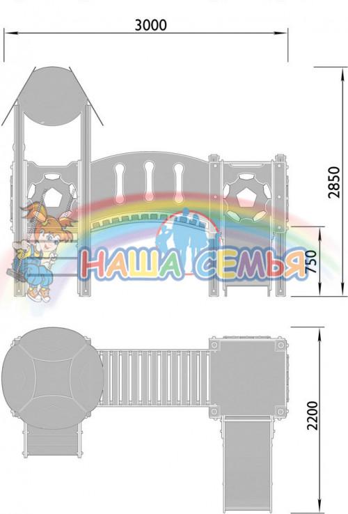 2030-4 Комплекс детский Мяч, фото №2