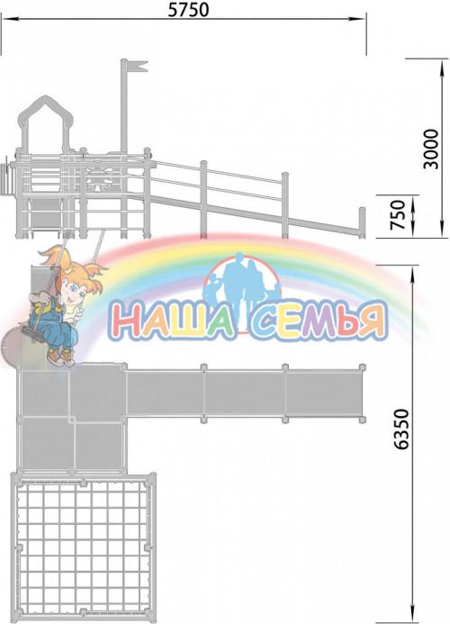 2200-2 Детский игровой комплекс для детей с ограниченными возможностями, фото №2