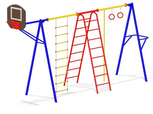 Гимнастический комплекс с баскетбольным щитом
