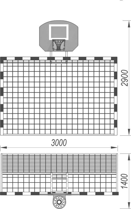 3512 Ворота с баскетбольным щитом, фото №2