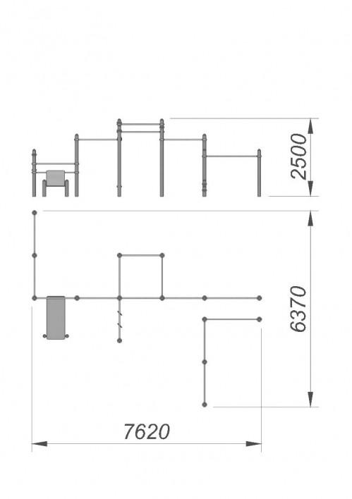 3790 Спортивный комплекс для воркаут СХ-39, фото №2