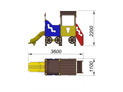 4403 Паровозик Тип 3, фото №2