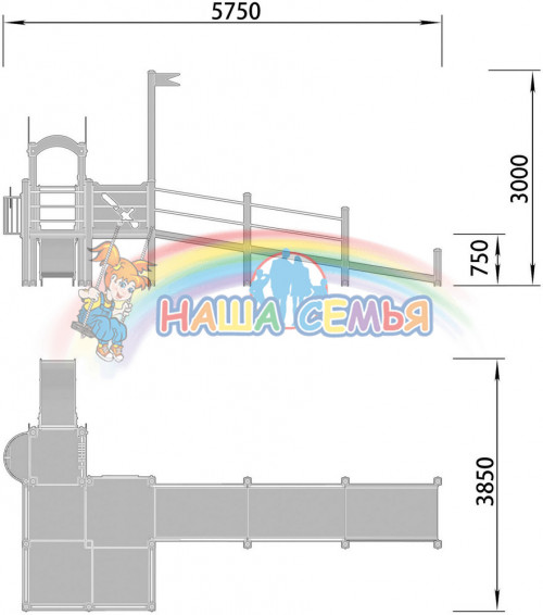 2200-1 Детский игровой комплекс для детей с ограниченными возможностями Корона, фото №2