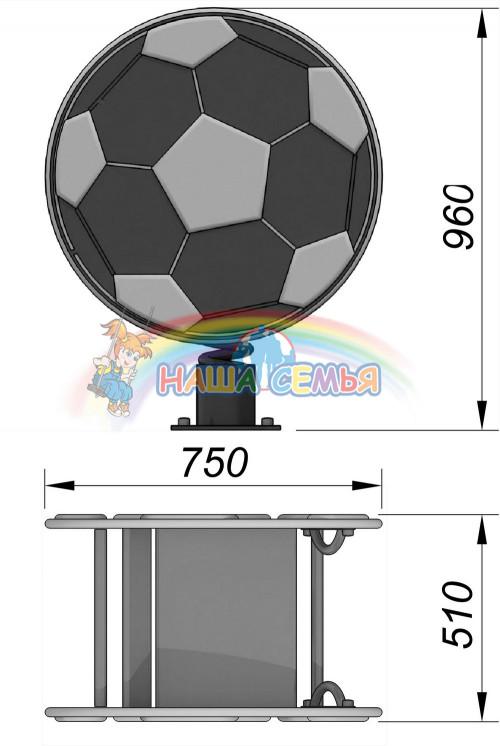 1210-6 Качалка на пружине Мяч, фото №2