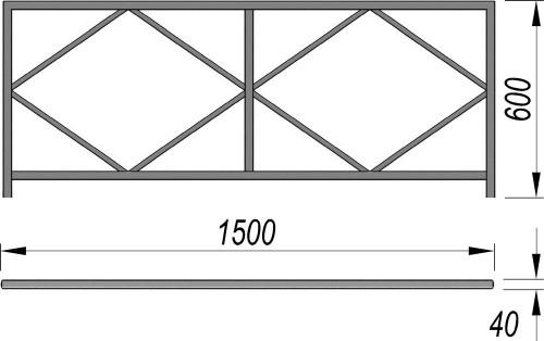 5001 Ограждение (1500 х 600) Тип 2, фото №2
