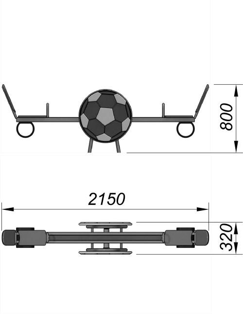 1200-3 Качалка Мяч, фото №2