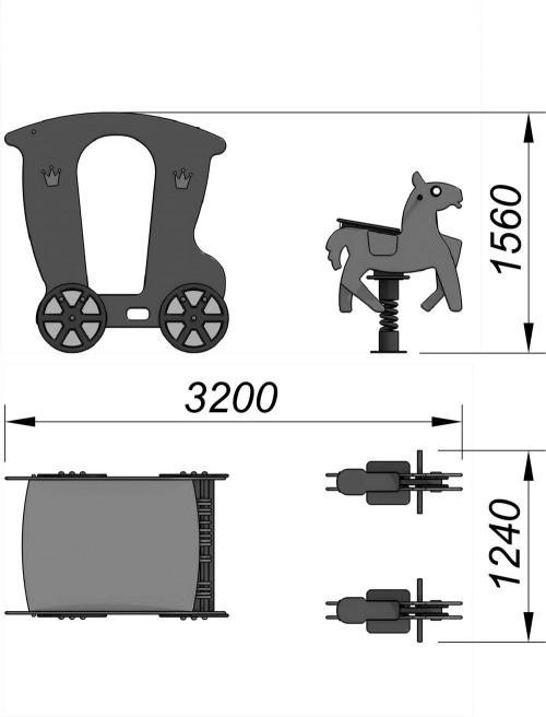 4600 Карета с лошадками, фото №2