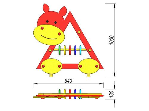 4701 Игровая панель Корова, фото №2