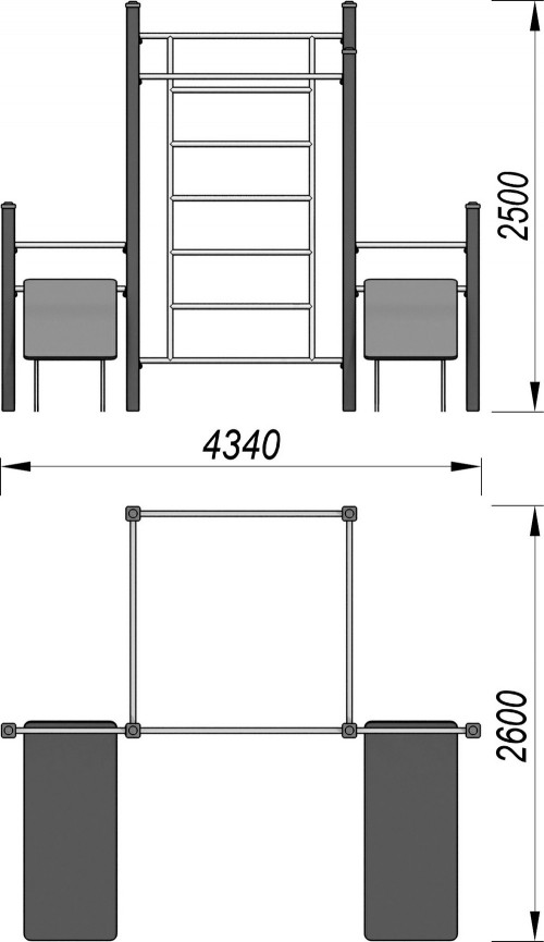 3718 Спортивный комплекс для воркаут Тип 3, фото №2