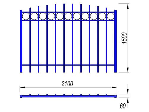 5005 Ограждение Тип 6, фото №2