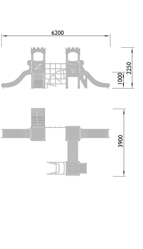 2070-2 Комплекс детский Крепость, фото №2
