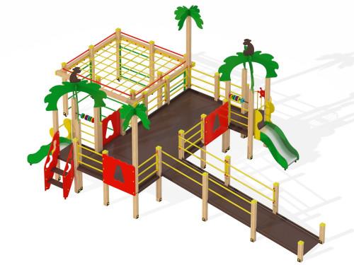 Детский игровой комплекс для детей с ограниченными возможностями Джунгли