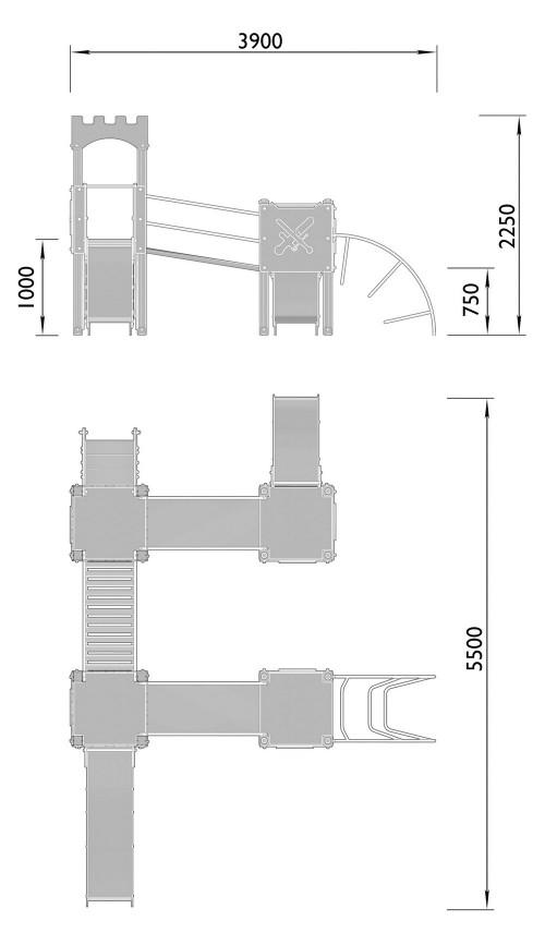 2120-2 Комплекс детский Крепость, фото №2