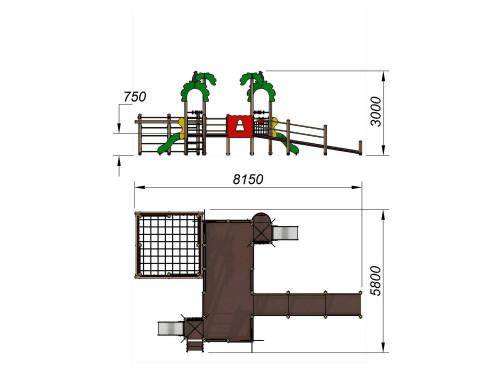2203 Детский игровой комплекс для детей с ограниченными возможностями Джунгли, фото №2